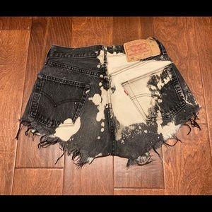 Levi distressed highwaisted shorts